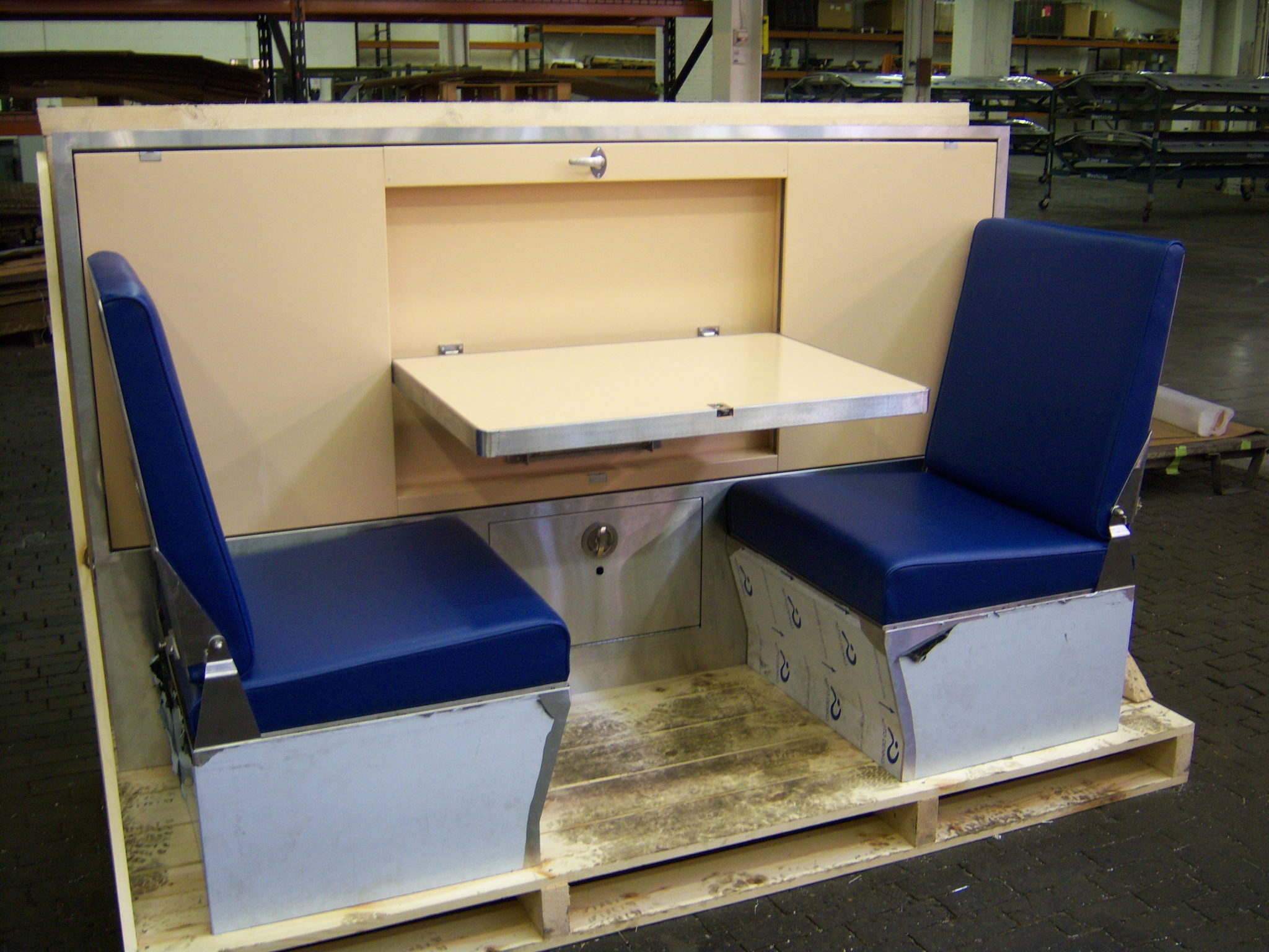 marine fabrication benches tables